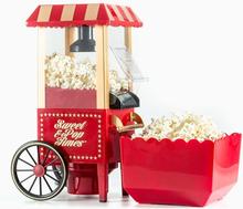 Popcornmaskin - 1200W - Rød