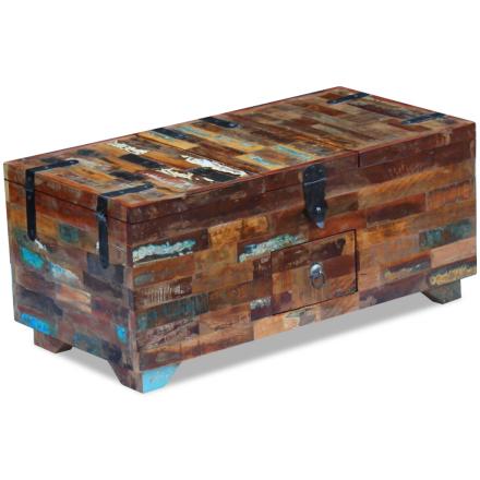 vidaXL Kaffebord Boks Kiste Gjenvunnet Tre 80x40x35 cm