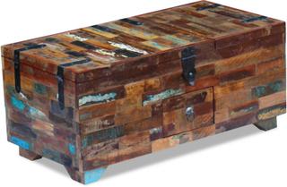 vidaXL sofabord/kiste i massivt genbrugstræ 80x40x35 cm