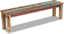 vidaXL Bänk massivt återvunnet trä 160x35x46 cm