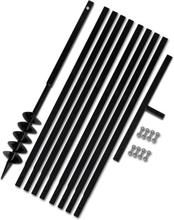 vidaXL Jordborr 100 mm Stål inkl. förlängningsrör 9 meter