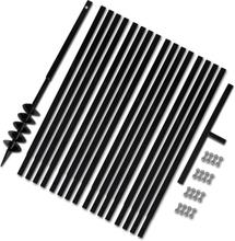 vidaXL Jordborr 100 mm Stål inkl. förlängningsrör 17 meter