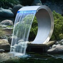 Ubbink Vattenfall rostfritt stål LED-belysning