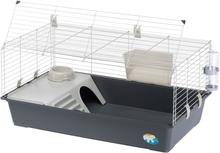 Ferplast Rabbit 100 -pieneläinhäkki - harmaa: P 95 x L 57 x K 46 cm