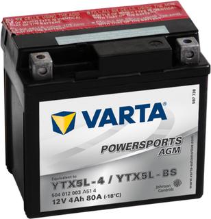 Varta Motorcykelbatteri Powersports AGM YTX5L-4 / YTX5L-BS