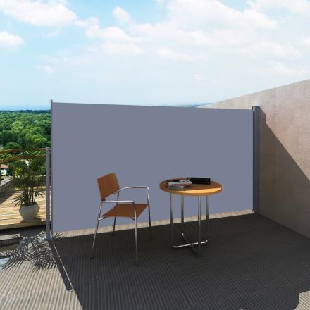 vidaXL Infällbar sidomarkis för uteplats 160 x 300 cm grå