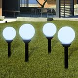Utelampa LED solpanel 15cm 4-pack