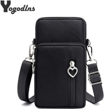 High quality Small Crossbody Bags For Women Multifunction Waterproof Nylon Shoulder Bag Cell Phone Sports Messenger Pouch Bags