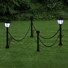 vidaXL Kedjestaket med 2 solcellsdrivna LED-lampor