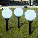 Utelampa LED solpanel 20cm 3-pack