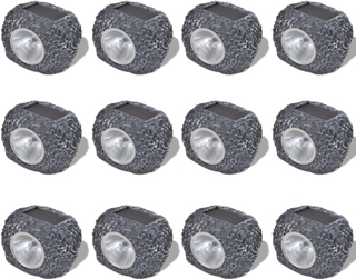 vidaXL Have Belysning LED Stone 12 pack