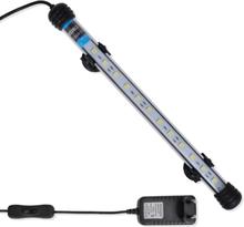vidaXL Akvariumlampa LED 28 cm vit