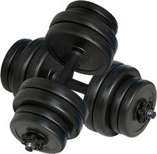 vidaXL Hantlar 2x15 kg