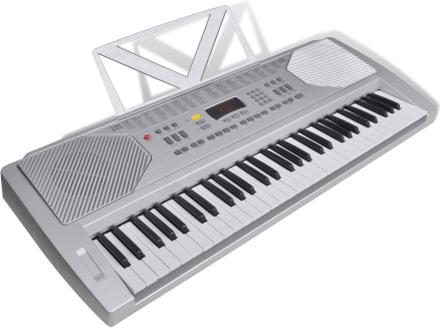 vidaXL Elektrisk keyboard med notställ och 61 tangenter
