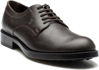 TOD'S Tods mäns Saffiano läder Derby Liscia Esquire Giovane Oxford ...