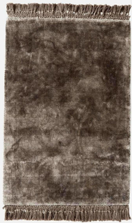 NOBLE tæppe med frynser - 160x240 - varm grå