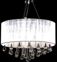 vidaXL Kristallkrona Maria Theresa med vit lampskärm