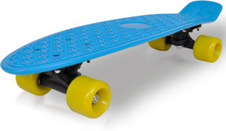 vidaXL Retro skateboard med blå top og gule hjul