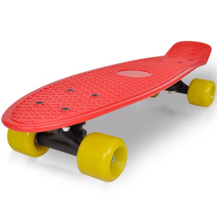 "vidaXL Retro Skateboard med Rød Topp og Gul Hjul 6,1"", 15.50cm"