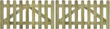 vidaXL Staketgrind 2 st impregnerat trä 300x80 cm