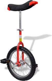 vidaXL Justerbar ethjulet cykel 16 tommer rød