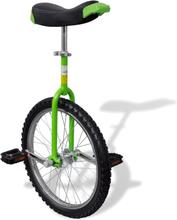 vidaXL Enhjuling 20 tum grön