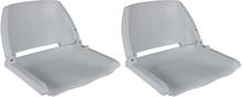 vidaXL Båtstolar 2 st hopfällbara utan kudde grå 41x51x48 cm