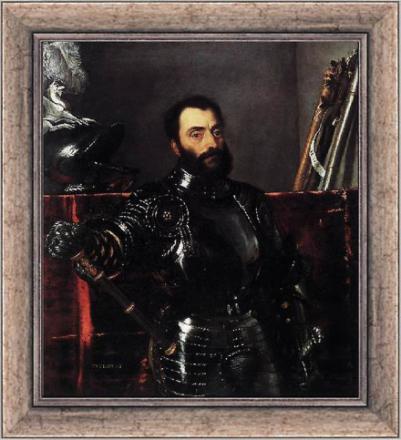 Steve Art Gallery Med ramme portrett av Francesco Maria della Rover...