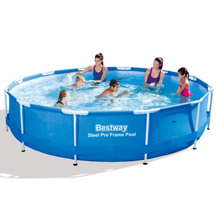 Bestway Steel Pro runde svømmebassin 366 x 76 cm stålramme 56.415