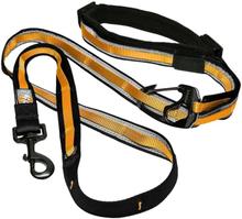 Kurgo 6-i-1 Hundkoppel med reflex Quantum svart och orange
