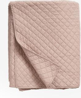 Quiltet sengetæppe i bomuld - 220x270 - støvet rosa