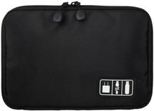 Väska för förvaring av sladdar, elektronik - svart