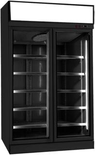 Køleskab 1000 liter - 2 glasdøre - Med topskilt