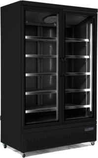 Køleskab 1000 liter - Side by Side - 2 låger - Sort
