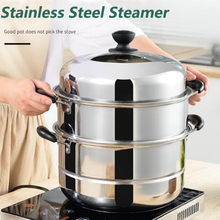 kitchen Stainless Steel Two Three layer Thick Steamer pot Soup Universal Cooking Pots for Induction Cooker Gas Stove steam pot