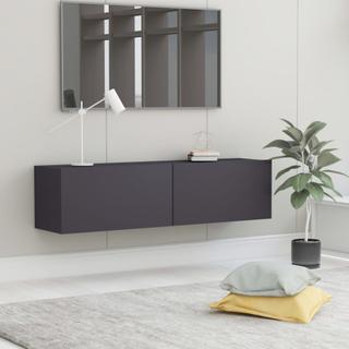 vidaXL TV-benk grå 120x30x30 cm sponplate