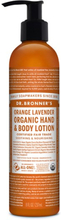 Organic Hand & Body Lotion Orange Lavender, 237 ml