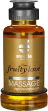 Swede Fruity Love: Värmande Massageolja Vanilj/Kanel, 100 ml