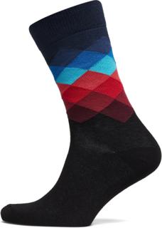 Faded Diamond Sock Underwear Socks Regular Socks Multi/mønstret Happy Socks