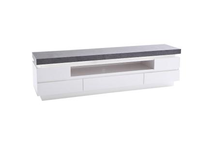 AVALON TV-benk B 175 med LED Hvit/Betong -