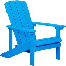 Beliani Däckstol blå ADIRONDACK