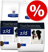 Sparpaket Hill's Prescription Diet Hundefutter 2 x Grossgebinde/ Kleingebinde - k/d Renal Health (2 x 12 kg)