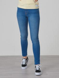 Calvin Klein, SKINNY HR STRONG LIGHT BLUE STR, Blå, Jeans till Pige, 12 år