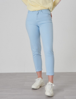 Calvin Klein, RELAXED HR ANKLE COLORED SOFT GD, Blå, Jeans till Pige, 10 år