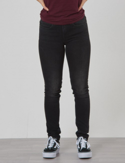 Calvin Klein, SKINNY MR CITY BLACK STR, Sort, Jeans till Pige, 10 år
