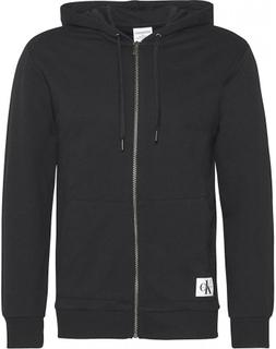 Calvin Klein Herre Monogram lynlås hættetrøje - sort Large
