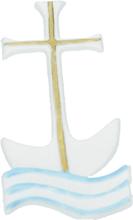 Vaxdekorationer - Kors med vågor (85x36 mm)