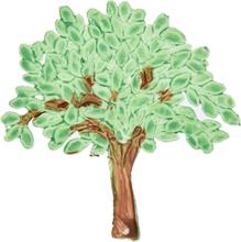 Vaxdekorationer - Träd (60x58 mm)