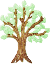 Vaxdekorationer - Träd (60x50 mm)