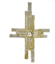 Vaxdekorationer - Gult kors (110x63 mm)